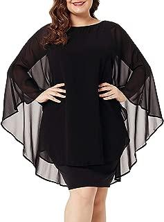 Best chiffon cape overlay dress Reviews