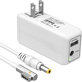BND Replacement Charger for MacBook Pro 13 inch (Made Before Mid 2012) 60W Magnetic 1st-Gen L-Tip Portable Laptop Power Adapter,Lightweight & Compact Travel Wall Charger-One Extra USB Port