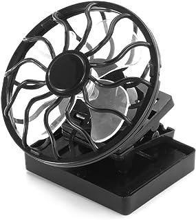 DeeCozy - Ventilador solar, mini ventilador, portátil, clip en célula solar, aire acondicionado, ventilador de aire para coche, para viajes y en casa