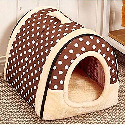 Doghouse 2-en-1 Casa de mascotas y sofá portátil para perros antideslizantes Cat Igloo camas cálidas encantadoras para mascotas para mascotas para mascotas, desmontado y lavado para mascotas (color: c
