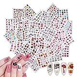 1000+Piezas Amor Corazón Labios Letras Pegatinas de Uñas, Nail Art Stickers Calcomanías, VETPW Pegatinas Transferencia Agua Calcomanías Uñas Etiquetas Engomadas para Decoración de Uñas Bricolaje