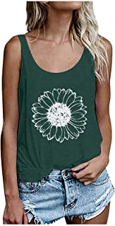 Women Summer Sleeveless Tank Tops, Ladies Floral Printed Casual Vest T-Shirt Blouse Tops