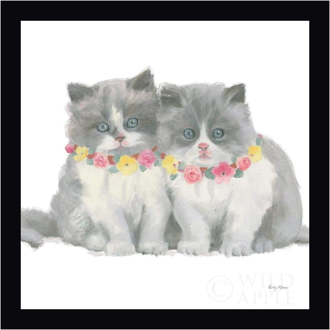 Cutie Kitties VIII by New product Emily Adams Max 48% OFF - Canva Framed 20