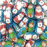 Surtido Navidad de figuritas de chocolate con leche relleno de crema - 1000 gramos...