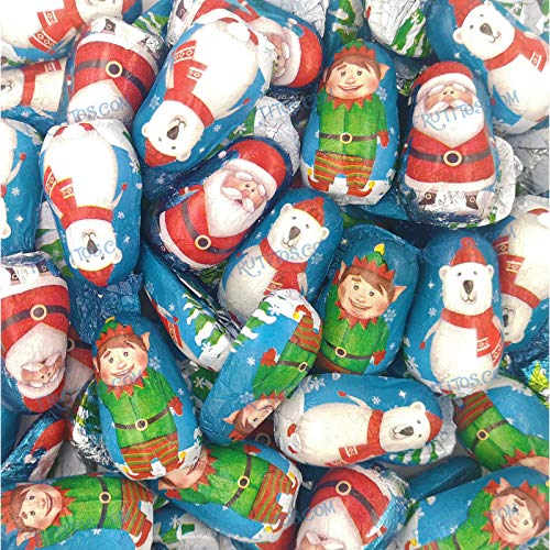 Surtido Navidad de figuritas de chocolate con leche relleno de crema - 1000 gramos