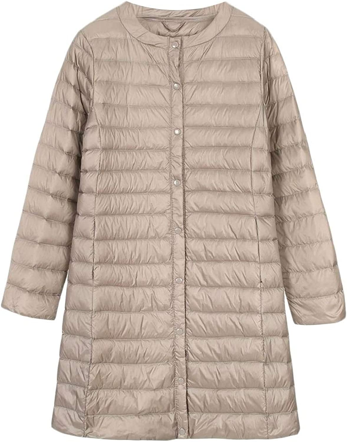 Desolateness Womens Light Weight Long Puffer Coat Down Parka Jacket