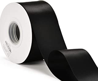 YAMA Double Face Satin Ribbon - 2 Inch 25 Yards for Gift Wrapping Ribbons Roll, Black