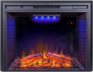 Flameline 33'' Roluxy Electric Fireplace Insert with Log Speaker, Remote Control,750/1500W, Black