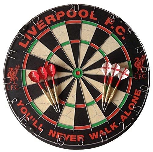Liverpool FC Dartscheibe & Dart Set, LFC Flights und Stiele