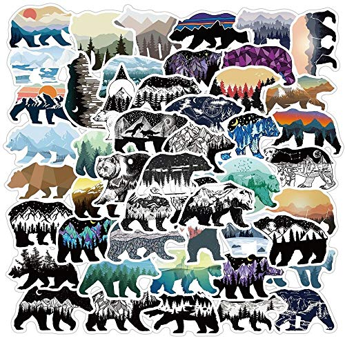 TUHAO Cartoon Bear Waterproof Stickers For DIY Motorcycles Water Cups Furniture Luggage Skateboards Computers 50Pcs/Pack
