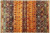 Alfombra Afgan, Ziegler, Shaal, 237 x 178 cm, hecha a mano, 180 x 240 cm, color terracota
