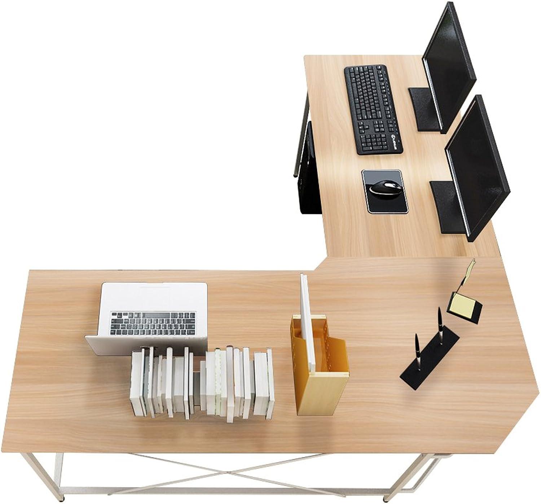 Sogesfurniture Computertisch Eckschreibtisch in L-Form, groer Gaming Schreibtisch PC Tisch Winkelkombination Arbeitstisch Bürotisch, (150+150)55  76 cm, Ahorn LD-Z01MO-BH