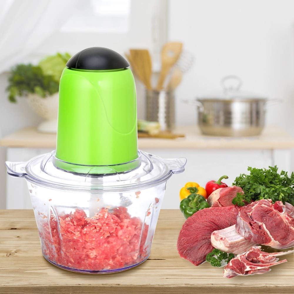 Zoo-yil LQP-jibaj 2L Automatische Krachtige Vleesmolen Multifunctionele Elektrische Keukenmachine Elektrische Chopper Blender Vlees Slicer Cutter (Color : Pink) Pink