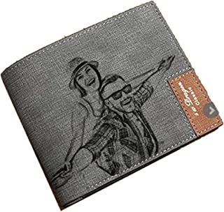 Personalized Mens Custom Photo Wallet Leather Wallet Mens Gift Father's Day Gift