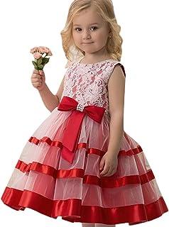 フォーマルドレス Yochyan 子供 キッズドレス 女の子 キュート 子供服 ドレス プリンセスドレス ノースリーブ コットン パフォーマンス 蝶結び レース 可愛い 誕生日 結婚式 パーティードレス ファッション おしゃれ ワンピース