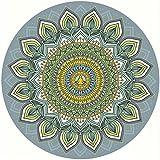 Esterilla de yoga para práctica de yoga, de goma natural, antideslizante, con impresión circular, para yoga, fitness, danza, aérea, yoga, meditación, yoga, tapete de interior para niños (color: E)
