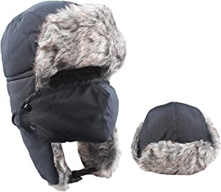 Trapper Hat Winter Ski Windproof with Ear Flaps Warm Mask for Men Unisex