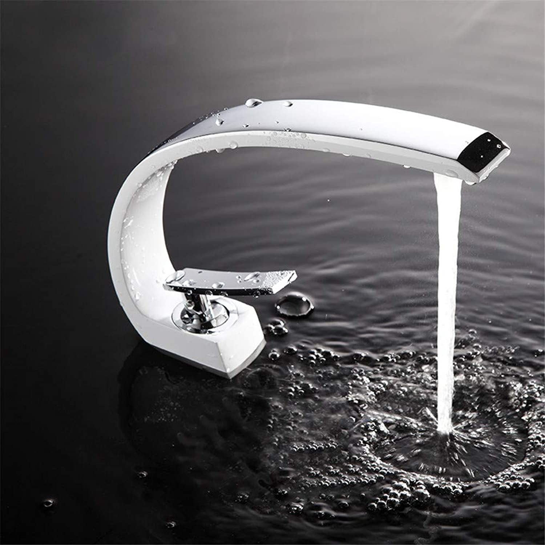 ZKLNJ Bad Waschbecken Wasserhahn Messing Waschbecken Wasserhahn Waschbecken Wasserhahn heien und kalten Wasserhahn Einhebel Chrom oder Wei