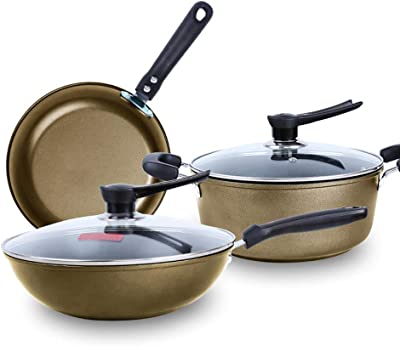 Cookware set, cast iron non-stick coating less fume General purpose stove