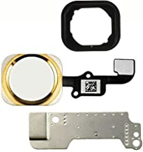 Home Button Key Flex Cable Assembly with Rubber Ring Replacment Part for iPhone 6 and 6 Plus (Gold)
