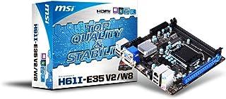 MSI H61I-E35-V2/W8 Mini-ITX Motherboard (LGA 1155 Intel H61, 2X DDR3 GBE LAN, 8X USB 2.0)