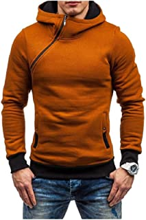 neveraway Mens Zipper Hooded Pullover Long-Sleeve Autumn Winter Tracksuit Top