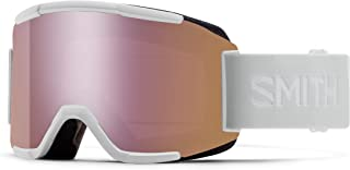 Smith Optics Squad Adult Snowmobile Goggles - White Vapor/Chromapop Everyday Rose Gold Mirror / One Size