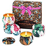 Scented Candles Gift Set, 4 Cans Made of 100% Natural Soy Wax with Essential Oils for...