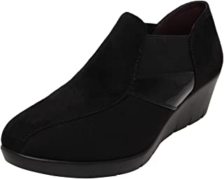 Catwalk Black Leather Shoes for Women's