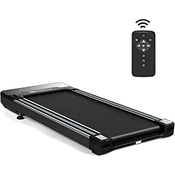 Goplus Under Desk Electric Treadmill, with Touchable LED Display and Wireless Remote Control, Built-in 3 Workout Modes and 12 Programs, Walking Jogging Machine for Home/Office