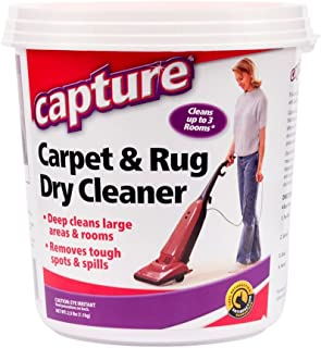 Capture Carpet Dry Cleaner Powder 2.5 lb -Deodorize Allergens Stain Smell Moisture from Rug Furniture Clothes and Fabric, Pet Stains Odor Smoke and Allergies Too