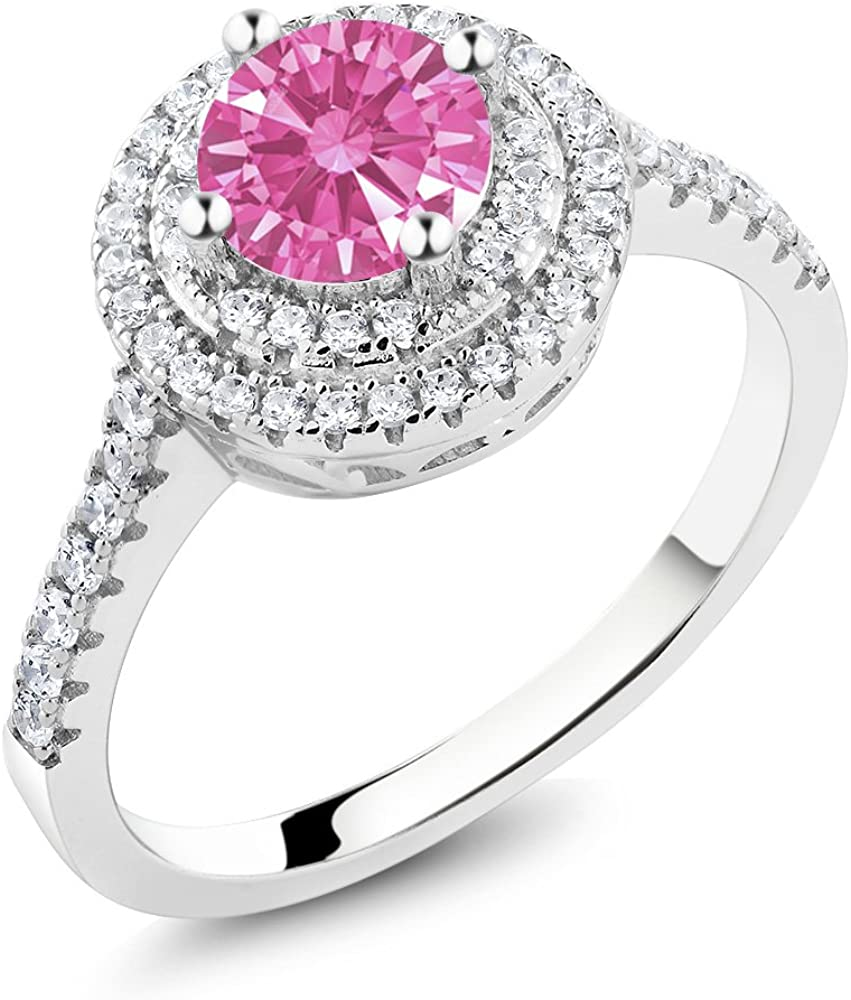 Gem Stone King 1.11 Ct Pink 925 Zi Sterling Set Save money with Super Special SALE held Ring Silver