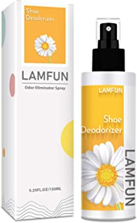 Shoe Deodorizer Spray, LamFun Foot Odor Eliminator Spray, Natural Deodorant for Shoes, Feet, Sneakers, Work Boots, Air Fre...