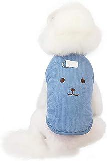 Pigiama per cani Tuta invernale in pile Ragazza Vestiti per animali domestici con fune di traino Vestito da cucciolo Cagno...
