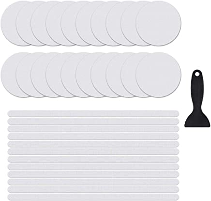 Nonslip Bathtub Stickers, Hamkaw Transparent Circle Shape Anti Slip Bath Stickers Easy Adhesive Install Water Resistant- 20 Round 12 Long