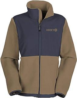 HOOey Men's Tech Jacket, Navy Texture with Tan Fleece