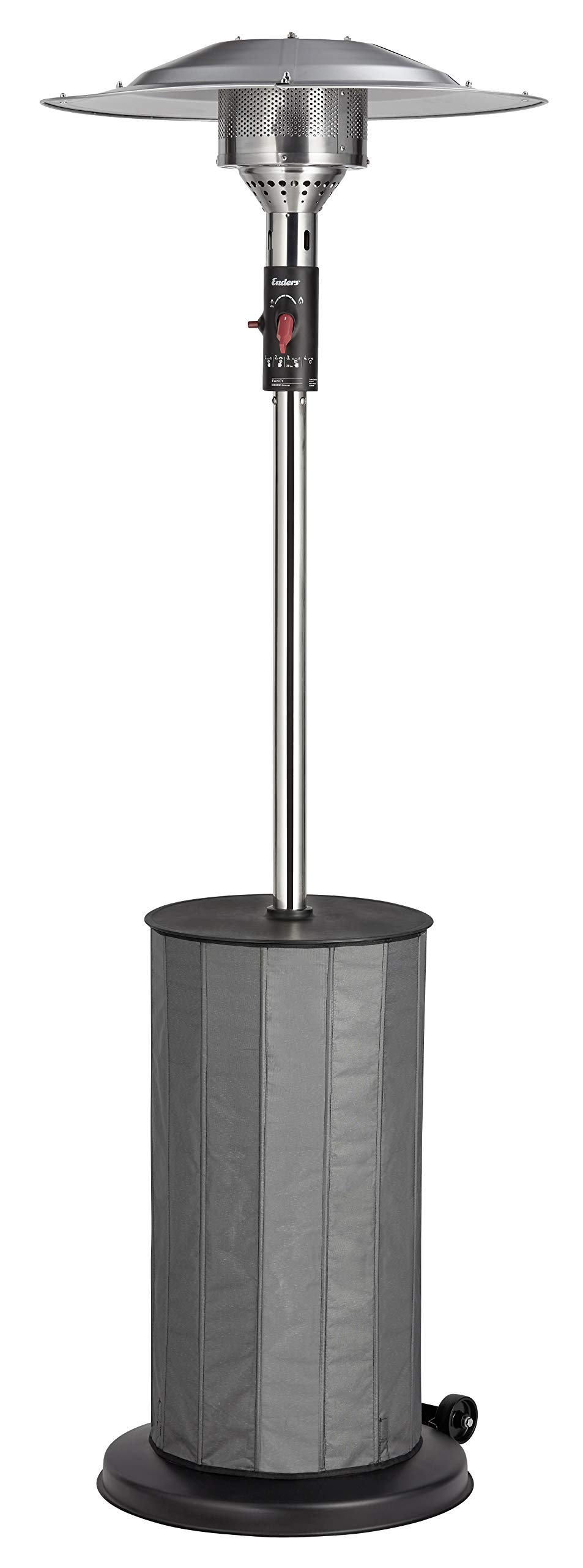 Enders Fancy Gas Patio Heater, Silver