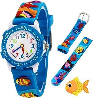 Orologio analogico da polso per bambine, bambini sport impermeabile 3D cute Cartoon giocattolo per bambini ragazzi ragazze...