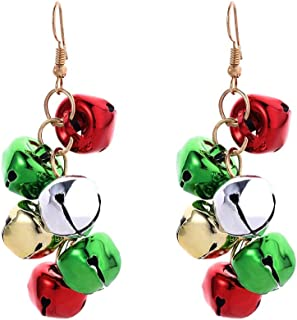 Christmas Earrings Collections, Snowman, Tree, Bell, Wreath,Santa Claus Drop Dangle Earring, Holiday Party Jewelry