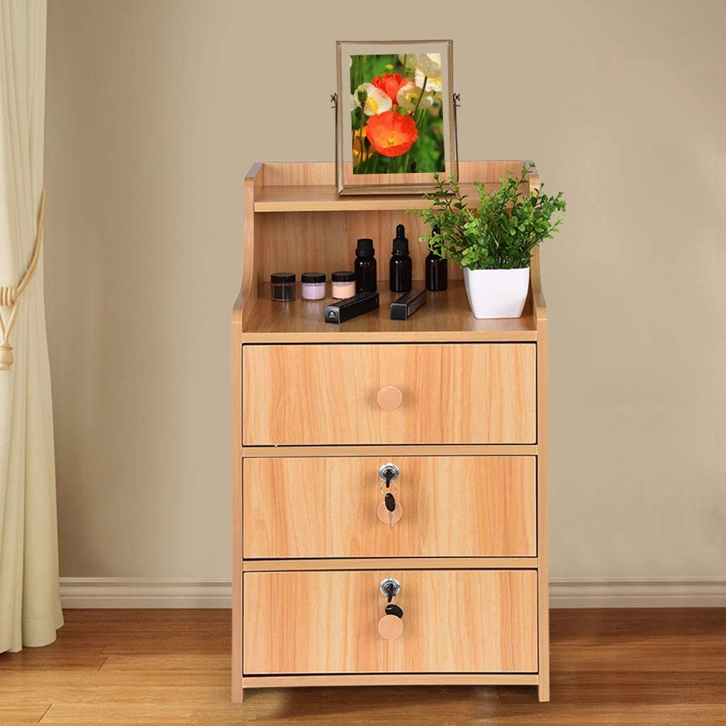 Youngnet Wood Nightstand with 5% OFF Drawers - Side End Direct sale of manufacturer Small Table Bed
