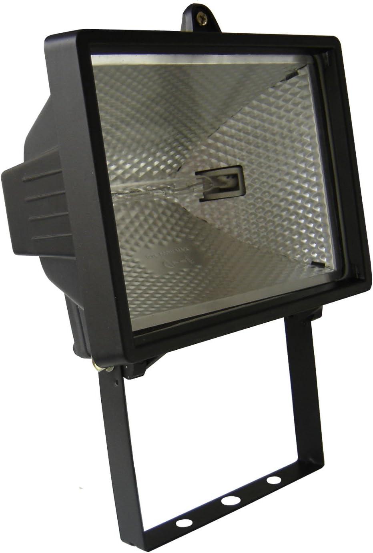 Enexo - Proyector Halógeno sin detector, 400W, IP44, color negro