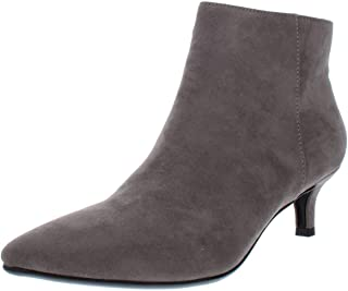 Naturalizer Womens Giselle Faux Suede Ankle Booties Gray 10 Medium (B,M) US