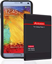 Note 3 Extended Battery Acevan 10000mAh Extend Battery Replacement for Samsung Galaxy Note 3 N900, Verizon N900V, Sprint N900P, T-Mobile N900T, AT&T N900A, N9005 LTE with TPU Case NFC Support