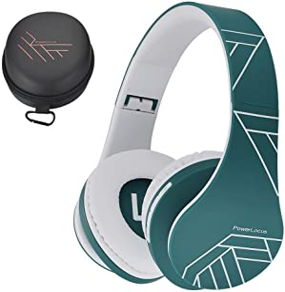 PowerLocus Bluetooth Cuffie Auricolari Pieghevoli, Over Ear Bluetooth Headphones Stereo Senza Fili Cuffie o Collegate Headset con Microfono, Micro SD/TF, FM per iPhone/Samsung/iPad/PC (Blu)