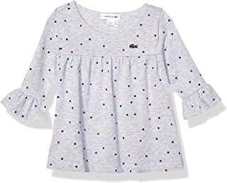 Lacoste Girls Long Sleeve Printed Multicolor Dots T-Shirt