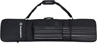 Winterial Snowboard Bag with Wheels, Travel Bag with Storage Compartments, Reinforced Double Padding Perfect for Road Trips and Air Plane Travel, up to 162.5 cm, Black