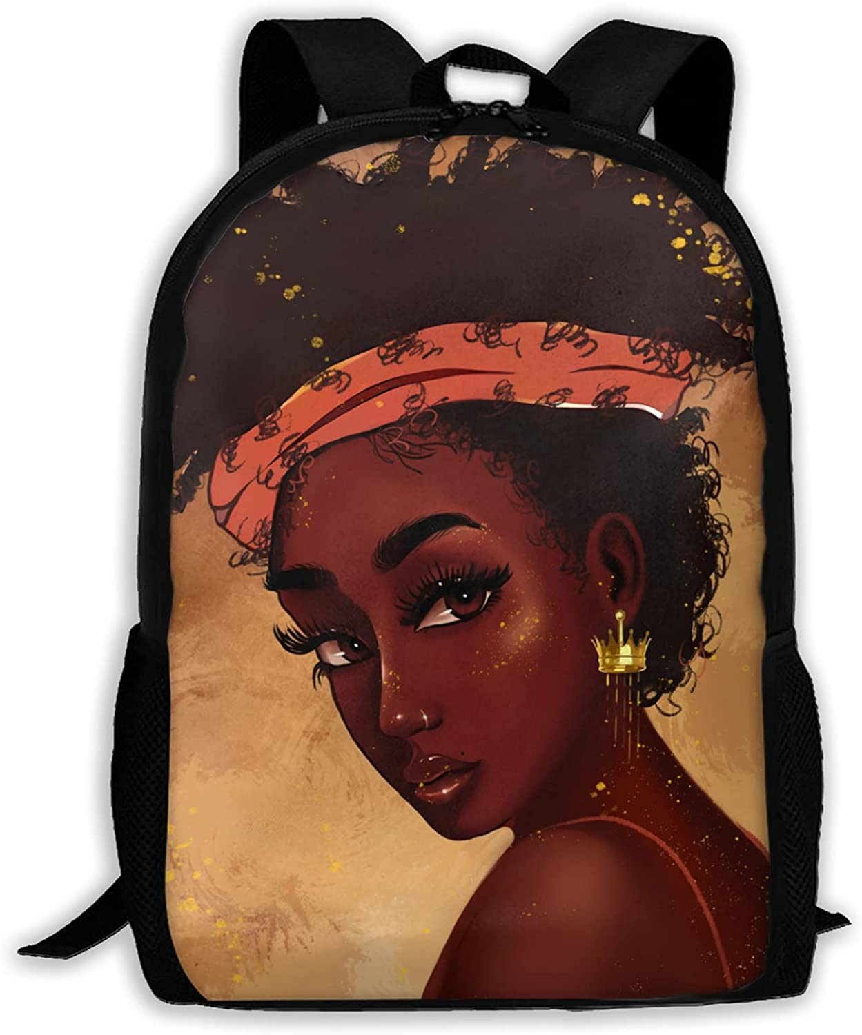 African Purchase 70% OFF Outlet American Women School Backpack Girl Magic Black Bookbag