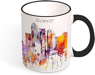 Denver Unique Tea Mug, Colorado Cityscape Mug, Skyline Cup, Silhouette Mug, Kitchen Gift, Travel gift, Gift for christmas, Mug 11oz