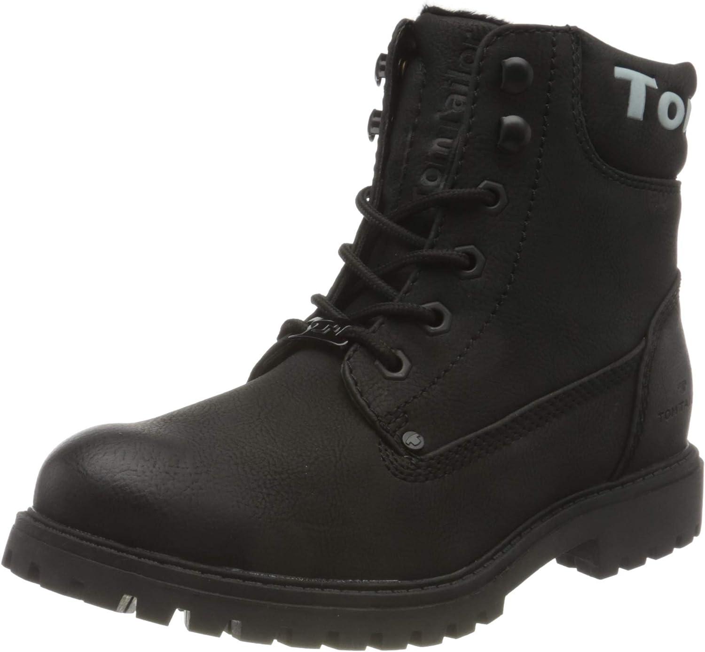 TOM TAILOR Women's 9090114 Mid Calf Boot, Black, 6.5 us