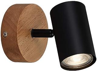 Briloner Leuchten - Luminaire à spots, spot mural, applique murale rétro, vintage, spot pivotant et orientable, 1x GU10, m...